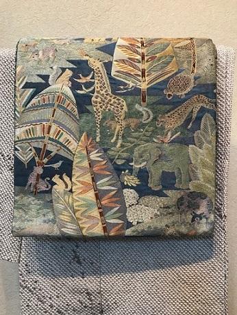 絞りの訪問着のお客様(1)樋熊哲也さんの着物と帯。_f0181251_18142768.jpg