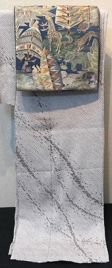 絞りの訪問着のお客様(1)樋熊哲也さんの着物と帯。_f0181251_18154931.jpg