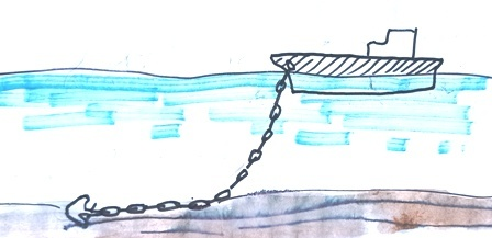 サンゴ礁に乗り上げた座礁船_d0083068_16425839.jpg