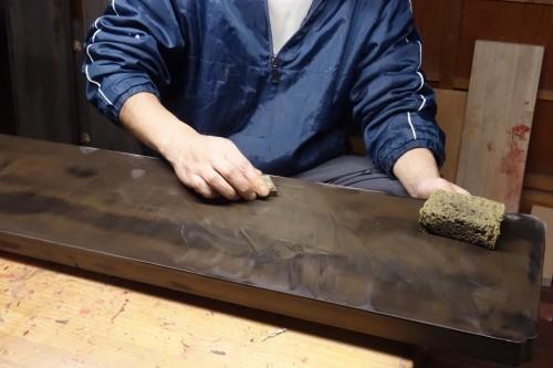 蛭子神社様八足案、下地・塗り編 2019.12.30_c0213599_21163887.jpg