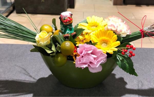 迎春アレンジメント_a0300110_07581215.jpg