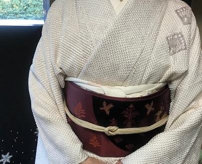 総絞りの着物のお客様(2)川島帯・皆さま良いお年を。_f0181251_18083517.jpg
