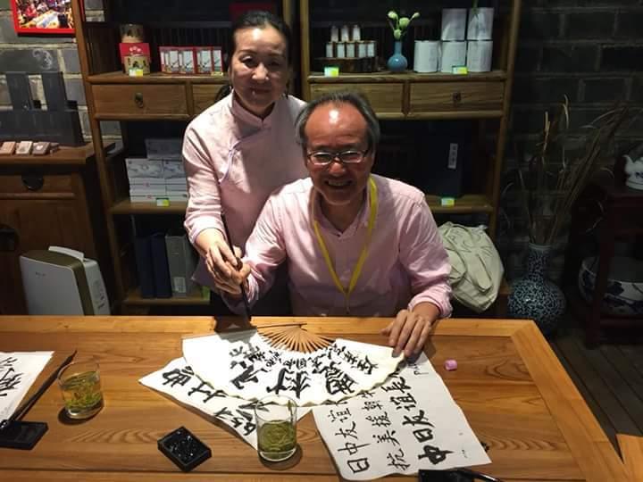 南京で日本人一人の書道ワークショップ_d0085401_15593709.jpg