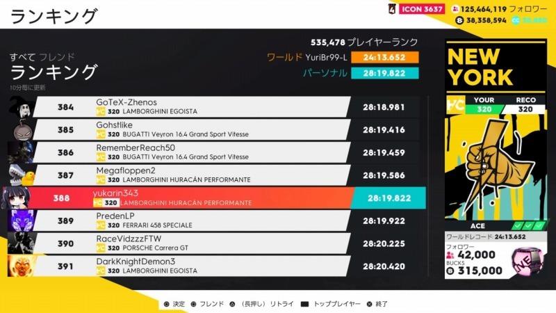 ゲーム「THE CREW2Huracan PerformanteでNew Yorkを本気で走る【28.19.822】」_b0362459_23472619.jpg