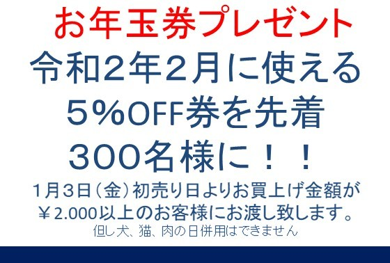 20200101 新春お年玉券プレゼント告知_e0181866_11044737.jpg