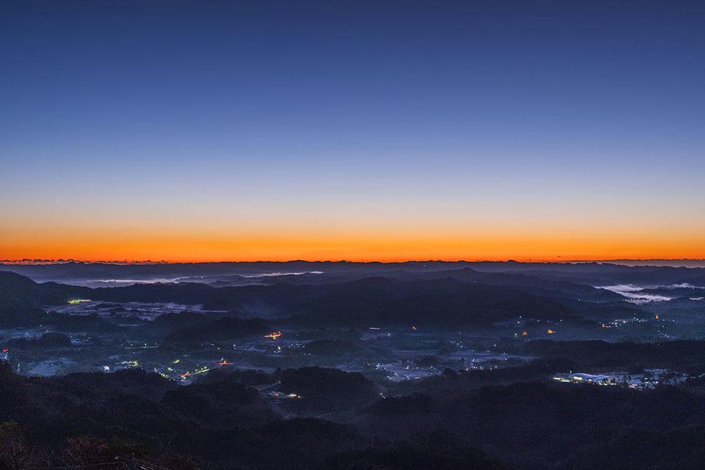 九十九谷展望公園からの日の出_f0324026_21490574.jpg