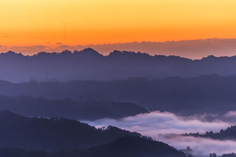 九十九谷展望公園からの日の出_f0324026_21493435.jpg