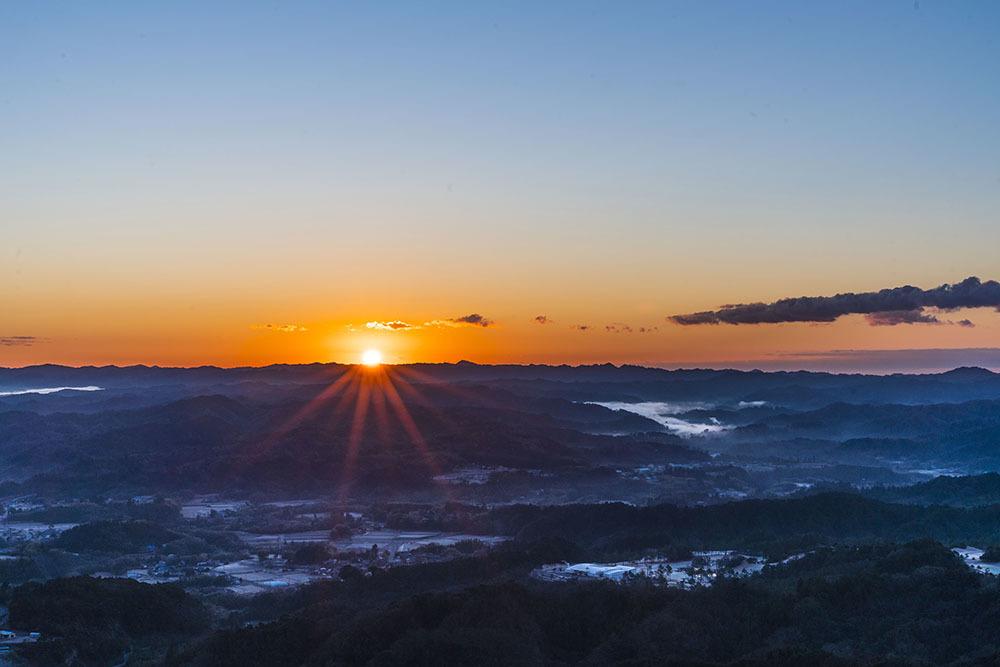 九十九谷展望公園からの日の出_f0324026_21500241.jpg