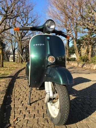 新春初荷! Piaggio Vespa 100  グリーンメタリック_f0123137_14435106.jpg