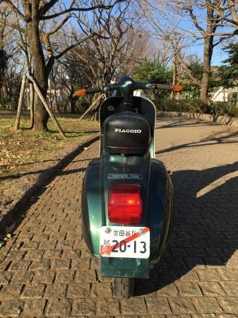 新春初荷! Piaggio Vespa 100  グリーンメタリック_f0123137_14502546.jpg
