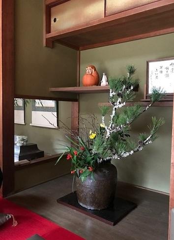 1月2日・孫達とお墓参り、初詣、江戸小紋にまいづるお年玉帯_f0181251_17124639.jpg