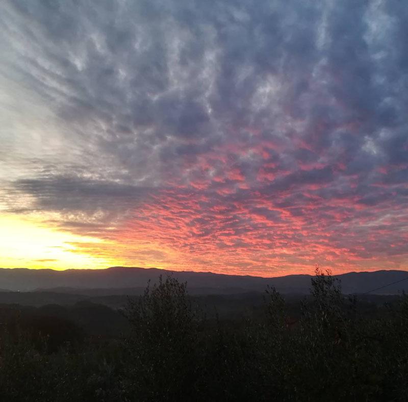 素晴らしい夕日を見て新しい年を迎えました!_c0179785_06164111.jpg