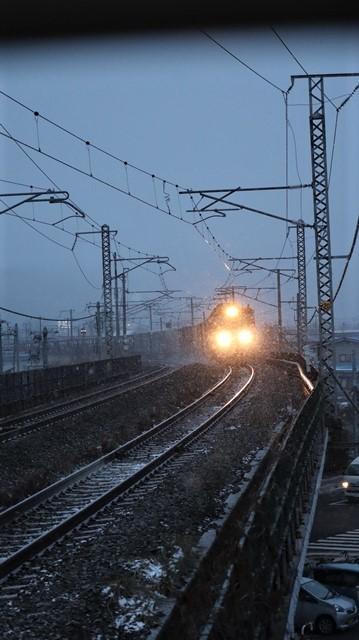青森駅は還暦を迎えました。そして、大改装中です。青い森鉄道と雪景色、雪の中を激走する貨物列車とモーリーくん_d0181492_23463808.jpg