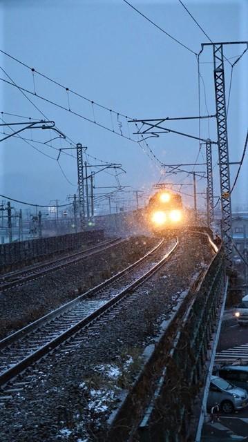 青森駅は還暦を迎えました。そして、大改装中です。青い森鉄道と雪景色、雪の中を激走する貨物列車とモーリーくん_d0181492_23464736.jpg