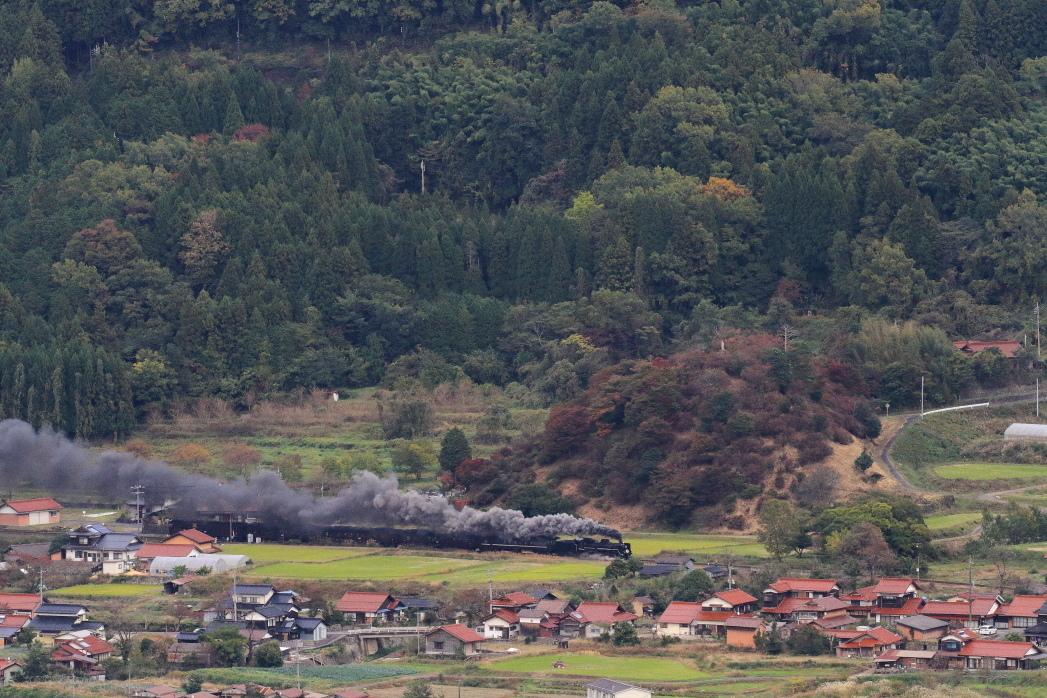 赤い瓦屋根の上を汽車が走る - 2019年・山口線 -_b0190710_18262381.jpg