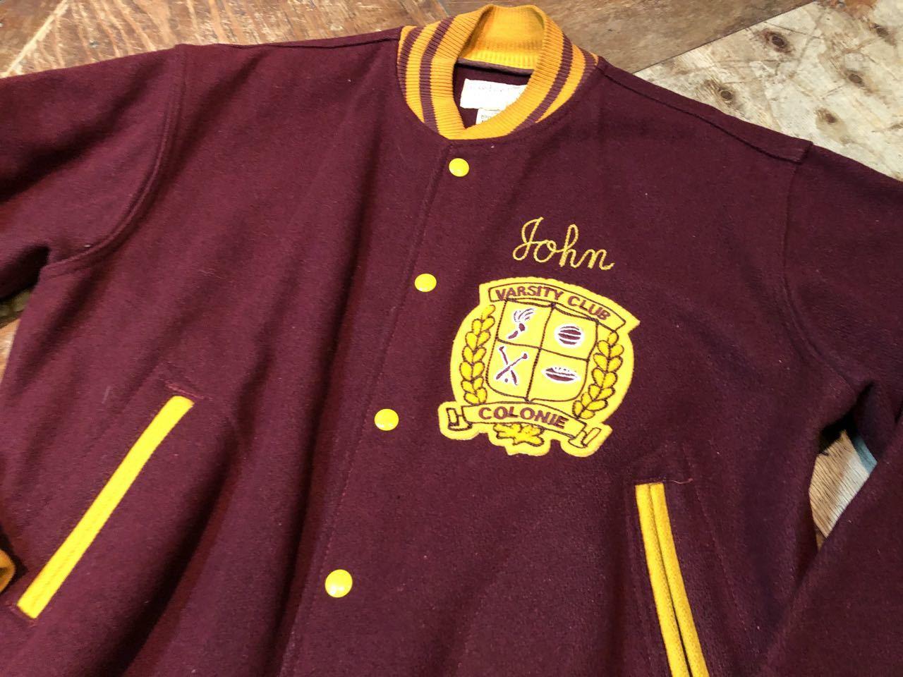 1月4日(土)入荷! 60s フェルト付き Varsity Jacket スタジャン! _c0144020_17454850.jpg