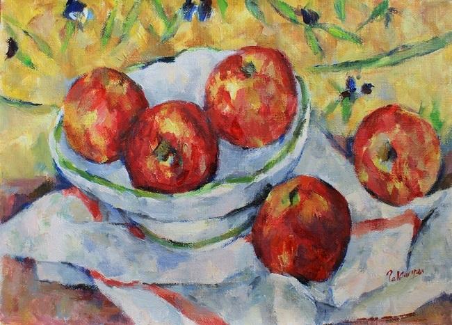 リンゴと果物鉢_c0236929_19152340.jpg