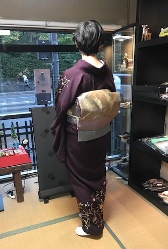 着物でパーティのお客様・和田光正金彩友禅訪問着。_f0181251_16411664.jpg