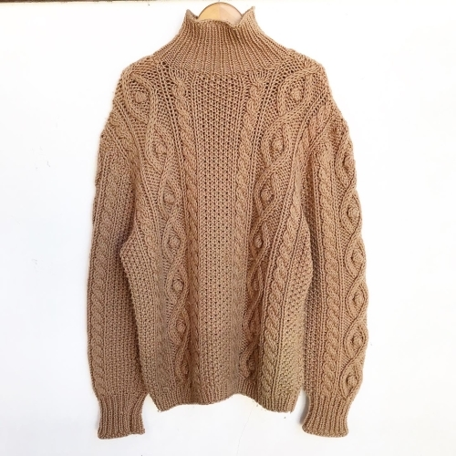 Hand Knitting Cable Sweater_a0182112_12305498.jpg