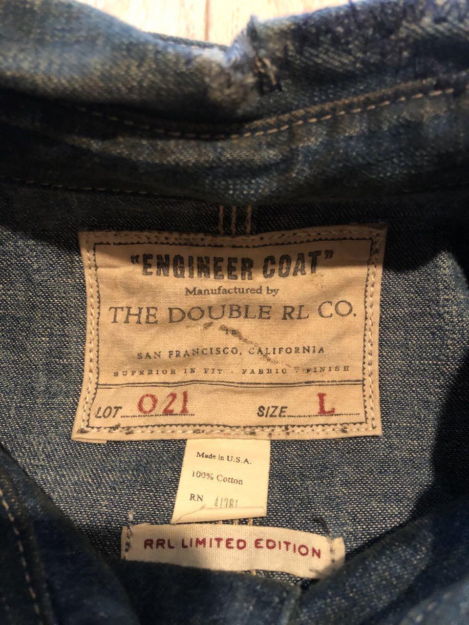 1月4日(土)入荷!Made in U.S.A ダブルアールエル 69枚限定 チンスト 変形ポケット Double RL Engineer Coat  LIMITED EDITION!_c0144020_12584905.jpg