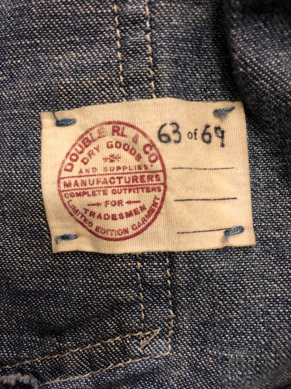 1月4日(土)入荷!Made in U.S.A ダブルアールエル 69枚限定 チンスト 変形ポケット Double RL Engineer Coat  LIMITED EDITION!_c0144020_13410827.jpg