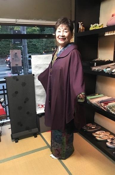 着物でパーティのお客様2・前田仁仙着物・半幅帯。_f0181251_00591077.jpg