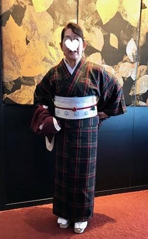 クリスマスランチ会のお客様・大島紬に夢訪庵手織の帯。_f0181251_01290132.jpg
