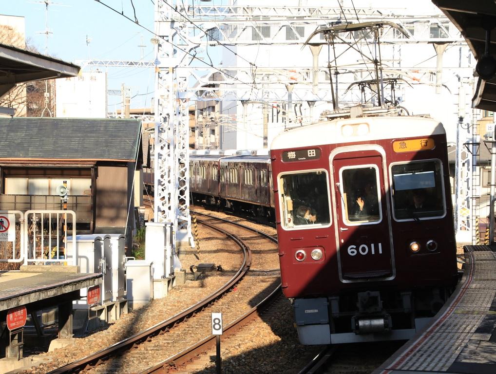 阪急6000系 6011F で2020年の初詣が始まる_d0202264_8205966.jpg
