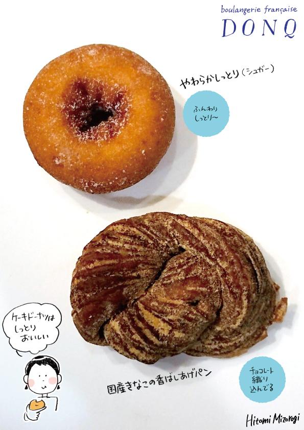 【ベーカリーチェーン】ドンク「やわらかしっとり(シュガー)」などドーナツ2種【ケーキ生地がいい】_d0272182_12160009.jpg