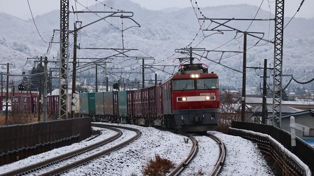 青い森鉄道:東北本線と貨物列車、雪降る北国で懸命に頑張る貨物列車に感動、頑張る姿は美しい・・・貨物列車も火とも頑張る姿に魅了する_d0181492_00281471.jpg