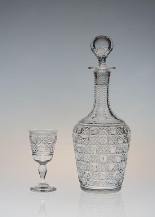 Baccarat Diamond Cut Decanter&Glass_c0108595_23391574.jpeg