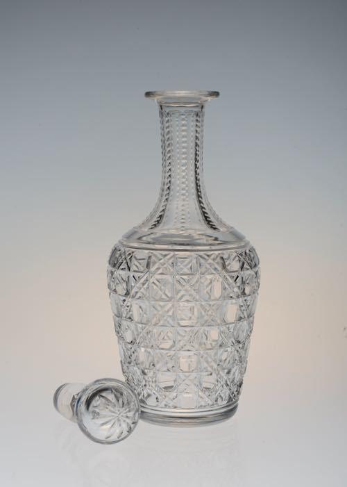 Baccarat Diamond Cut Decanter&Glass_c0108595_23402879.jpeg