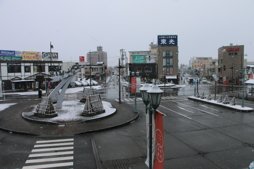 米沢駅の朝 2020.1.5_c0075701_08580726.jpg