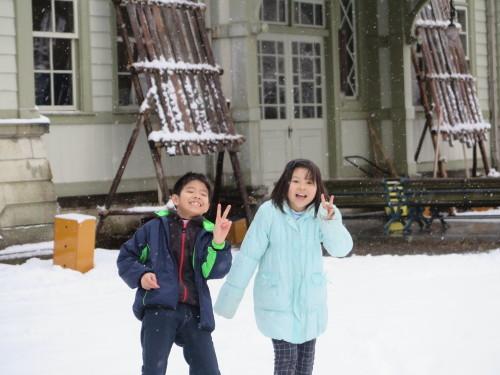 重文本館内巡回&ライトアップ投光器雪囲いボックスの除雪_c0075701_17111827.jpg