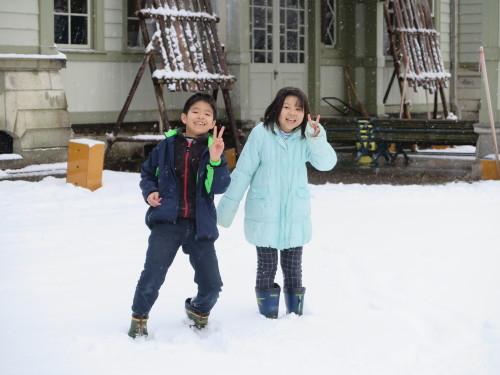 重文本館内巡回&ライトアップ投光器雪囲いボックスの除雪_c0075701_17112283.jpg