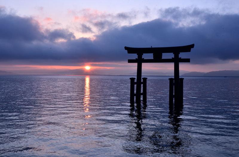 琵琶湖 白鬚神社 日の出_b0199522_22041635.jpg