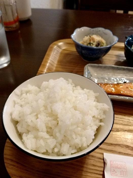 那覇・桜坂 「リゾム」 美味!自家製 鮭の味噌漬け焼き定食_c0362623_12203689.jpg