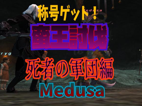 蛮王討伐 死者の軍団編 Medusa_e0401547_16073282.png