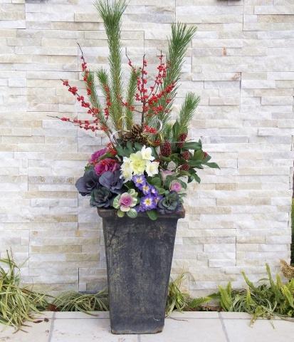 ◆松飾りの寄せ植え作り_e0154682_23011493.jpg