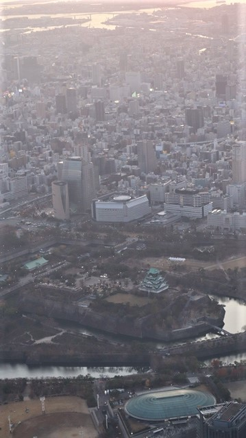謹賀新年と富士山の美しい姿、大阪城と夕日は萌える様な美しさ・・・・・大阪城、夕日、富士山のある情景_d0181492_17410074.jpg
