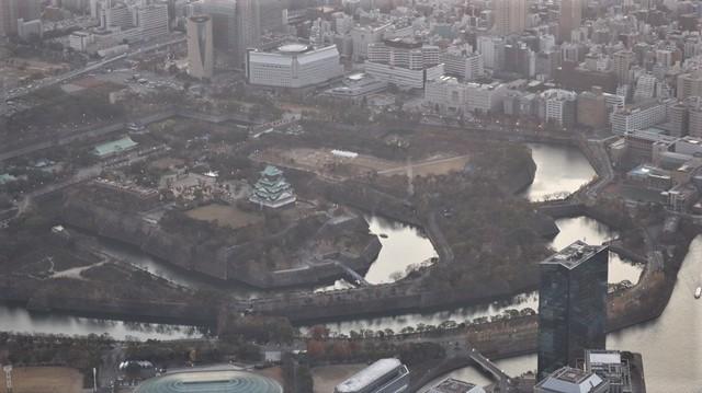 謹賀新年と富士山の美しい姿、大阪城と夕日は萌える様な美しさ・・・・・大阪城、夕日、富士山のある情景_d0181492_17411139.jpg