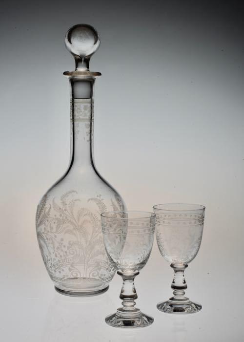 Baccarat Fougeres Decanter & Liqueur glass_c0108595_23302453.jpeg