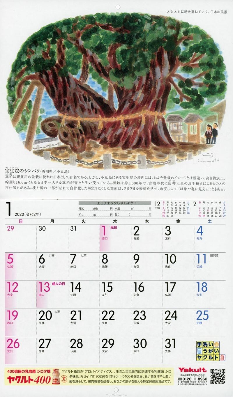 ヤクルトカレンダー2020年_d0253520_10075240.jpg