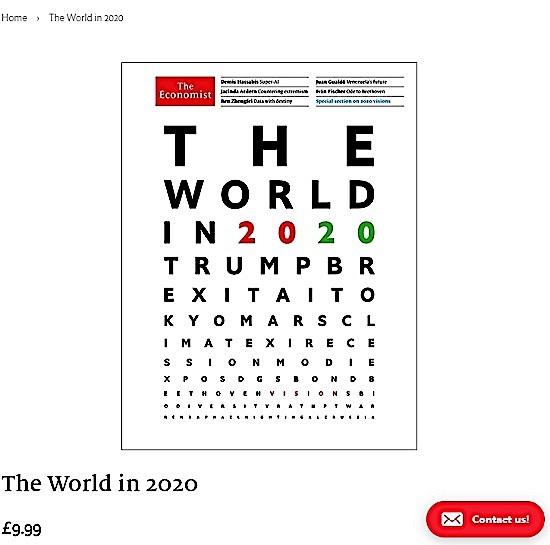 【A Happy New Economist the World in 2020】トランプに始まりロシアで終わる→東京、インド首相、中国主席、ロシア。。。!?_a0386130_18002916.jpg