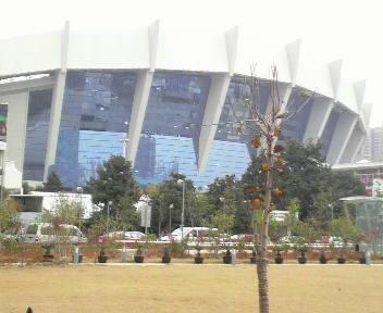 上海体育館で選手受付_a0394451_12365299.jpg