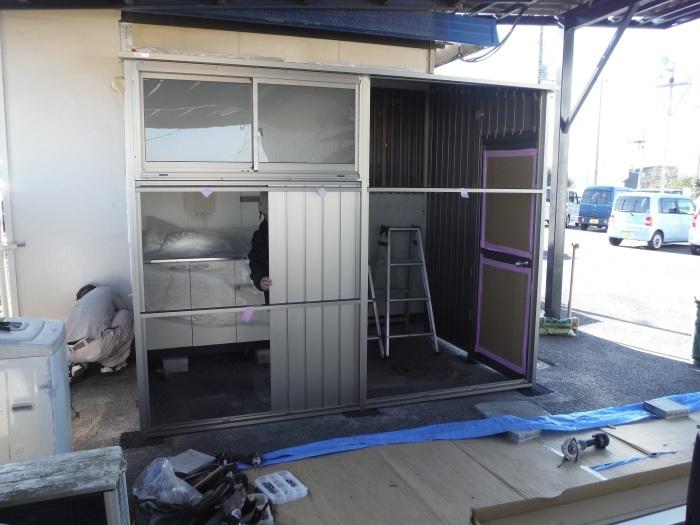 倉庫取付 ~ 壁取付け 。_d0165368_02455544.jpg