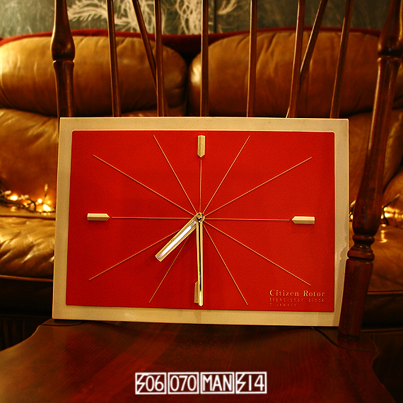 1970s Vintage ミッドセンチュリーデザイン シチズンのトランジスタ時計(改)_e0243096_19001997.jpg
