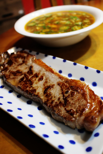 スリムスープと塩焼き牛肉    札幌 自転車屋。_a0139912_18181955.jpg