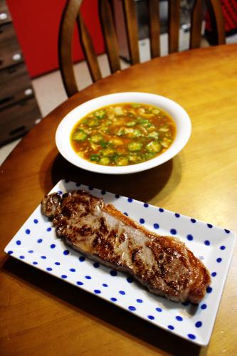スリムスープと塩焼き牛肉    札幌 自転車屋。_a0139912_18181999.jpg