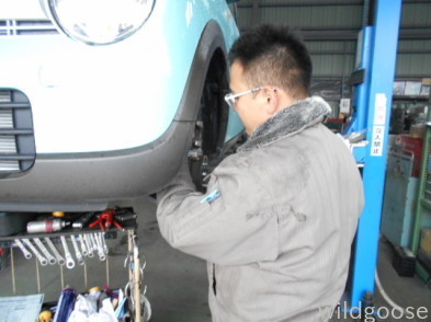 HE33Sラパン 車検整備中(゜▽゜)_c0213517_15214739.jpg